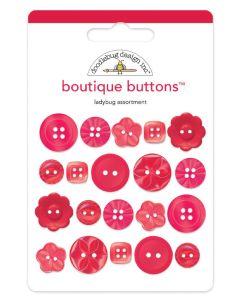 Ladybug Boutique Buttons - Monochromatic - Doodlebug