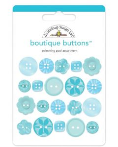 Swimming Pool Boutique Buttons - Monochromatic - Doodlebug