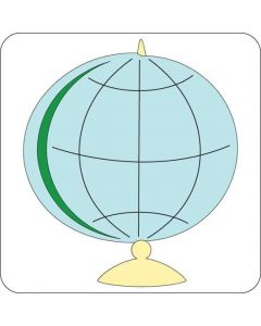 design view of Cuttlebug Globe 2 x 2 Die