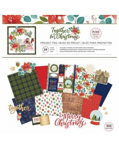 "Together for Christmas 12"" x 12"" Project Pad - Pink Paislee"