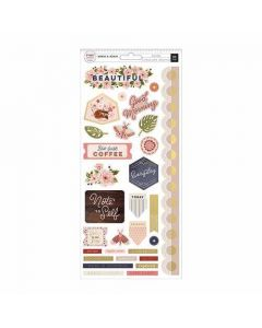 """Again & Again 6"""" x 12"""" Cardstock Stickers - Pink Paislee"""