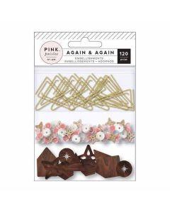 Again & Again Mixed Embellishments - Pink Paislee