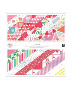 "Lucky Us 12"" x 12"" Iridescent Foil Pad - Pink Paislee"