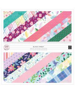 """Bloom Street 12"""" x 12"""" Paper Pad - Pink Paislee*"""