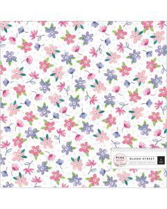 "Bloom Street 12"" x 12"" Specialty Paper - Pink Paislee"