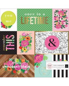 """5th & Monaco 12"""" x 12"""" Specialty Paper - Pink Paislee*"""