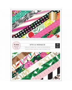 """5th & Monaco 6"""" x 8"""" Specialty Paper Pad - Pink Paislee*"""