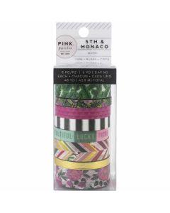 5th & Monaco Washi Tape Rolls - Pink Paislee