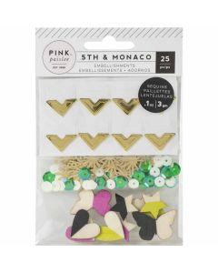 5th & Monaco Mixed Embellishments - Pink Paislee