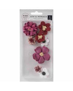 5th & Monaco Dimensional Flowers - Pink Paislee*