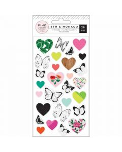 5th & Monaco Puffy Stickers - Pink Paislee*