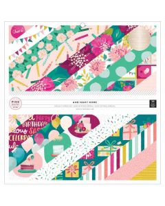 """And Many More 12"""" x 12"""" Specialty Paper Pad - Pink Paislee*"""