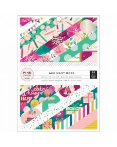 """And Many More 6"""" x 8"""" Specialty Paper Pad - Pink Paislee*"""