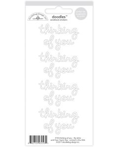 Lily White Thinking of You Stickers - Pumpkin Spice - Doodlebug*