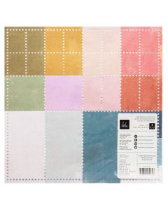 "Old School 12"" x 12"" Perforated Colored Cardstock Sheet - Heidi Swapp*"