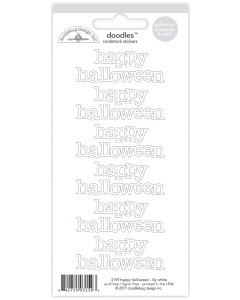 Lily White Happy Halloween Doodles Cardstock Stickers - Create-A-Card - Doodlebug