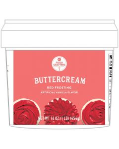 Red Buttercream Tub, 1 lb - Food Crafting - American Crafts
