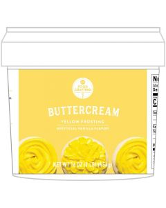 Yellow Buttercream Tub, 1 lb - Food Crafting - American Crafts