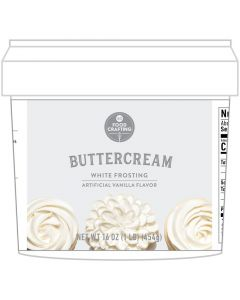 White Buttercream Tub, 1 lb - Food Crafting - American Crafts