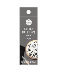 Black Edible Paint, 0.5 oz - Food Crafting - American Crafts