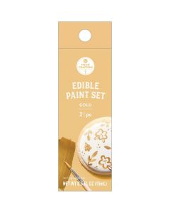 Gold Edible Paint, 0.5 oz - Food Crafting - American Crafts