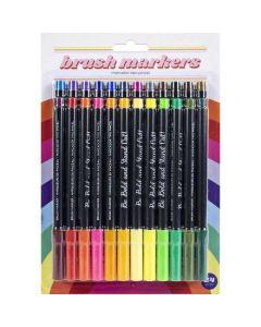 Retro Brite Fine Brush Markers - American Crafts