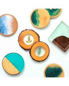 Wood Slice Coasters - Color Pour Resin - American Crafts