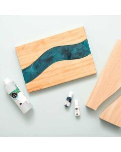 Wood River Tray - Color Pour Resin - American Crafts