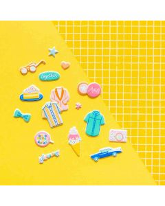 Buenos Dias Mini Puffy Stickers - American Crafts
