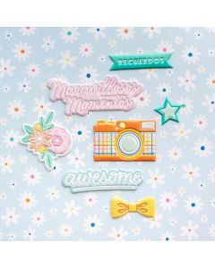 Buenos Dias Embossed Puffy Stickers - American Crafts