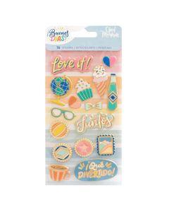 Buenos Dias Faux Enamel Stickers - American Crafts
