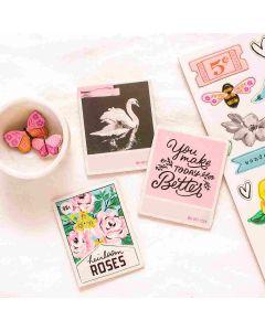 Garden Party Chipboard Stickers - American Crafts