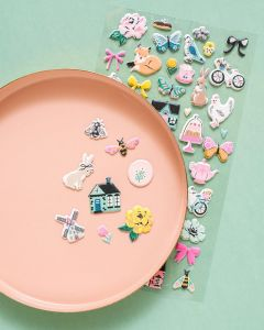 Garden Party Puffy Stickers - American Crafts