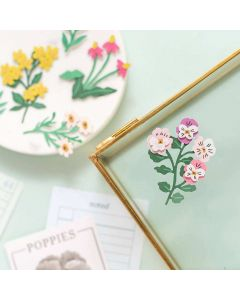 Garden Party Layered Paper Stickers - American Crafts