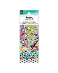 Color Study Embossed Puffy Stickers - American Crafts