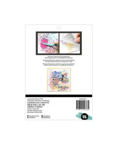 Bubbles Masking Stencil - Color Study - American Crafts