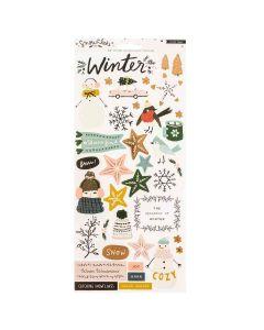 "Snowflake 6"" x 12"" Sticker Sheet - Crate Paper"