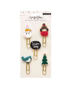 Snowflake Rubber Paper Clips - Crate Paper