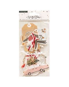 Snowflake Layered Tags - Crate Paper