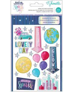 Sparkle City Chipboard Stickers
