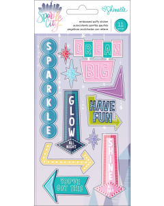 Sparkle City Puffy Stickers