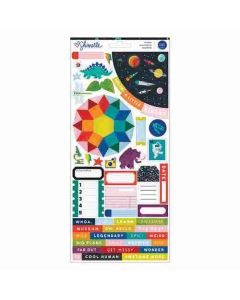"""Field Trip 6"""" x 12"""" Accent & Phrase Stickers - Shimelle - American Crafts"""