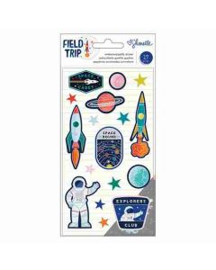 Field Trip Embossed Puffy Stickers - Shimelle - American Crafts