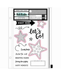 Let's Go Stamps and Dies - Let's Wander - Vicki Boutin - American Crafts*
