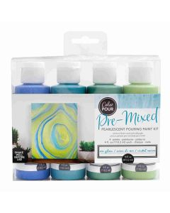Sea Glass Metallic Pouring Kit - Color Pour - American Crafts