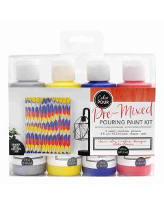 Primary Colors Pouring Kit - Color Pour - American Crafts