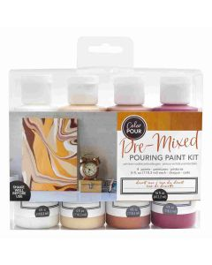 Desert Rose Pouring Kit - Color Pour - American Crafts