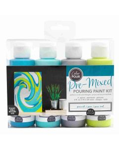 Peacock Pouring Kit - Color Pour - American Crafts
