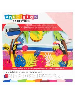 """Primary Textured Precision Cardstock 12"""" x 12"""" - American Crafts"""