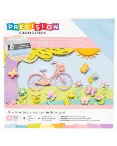 "Pastel Textured Precision Cardstock 12"" x 12"" - American Crafts"